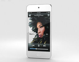 apple ipod touch silver 3d model