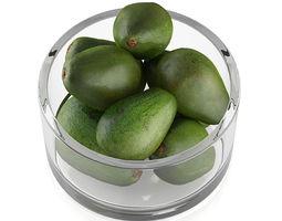 3d model bowl of avocado fruits