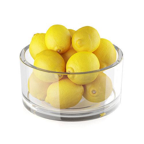 bowl of lemon fruits 3d model max obj mtl fbx c4d 1
