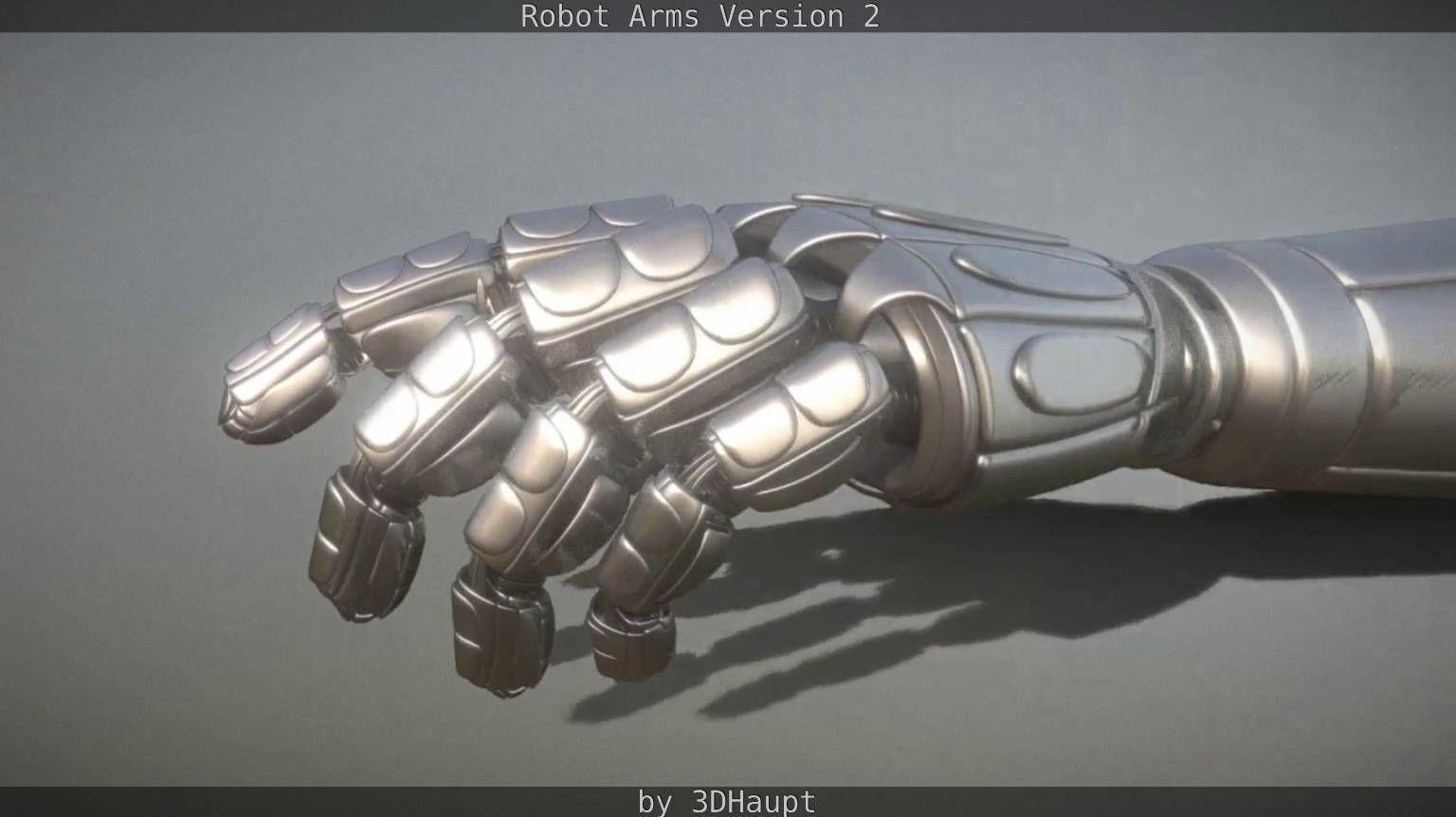 Robotarms version 2 rigged
