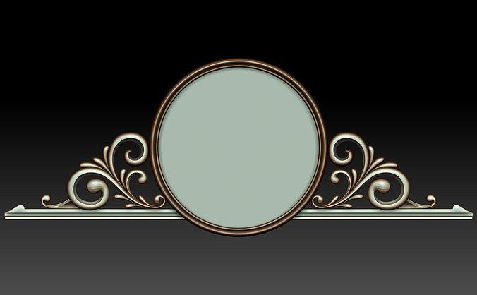 mirror 3d model obj mtl stl 1