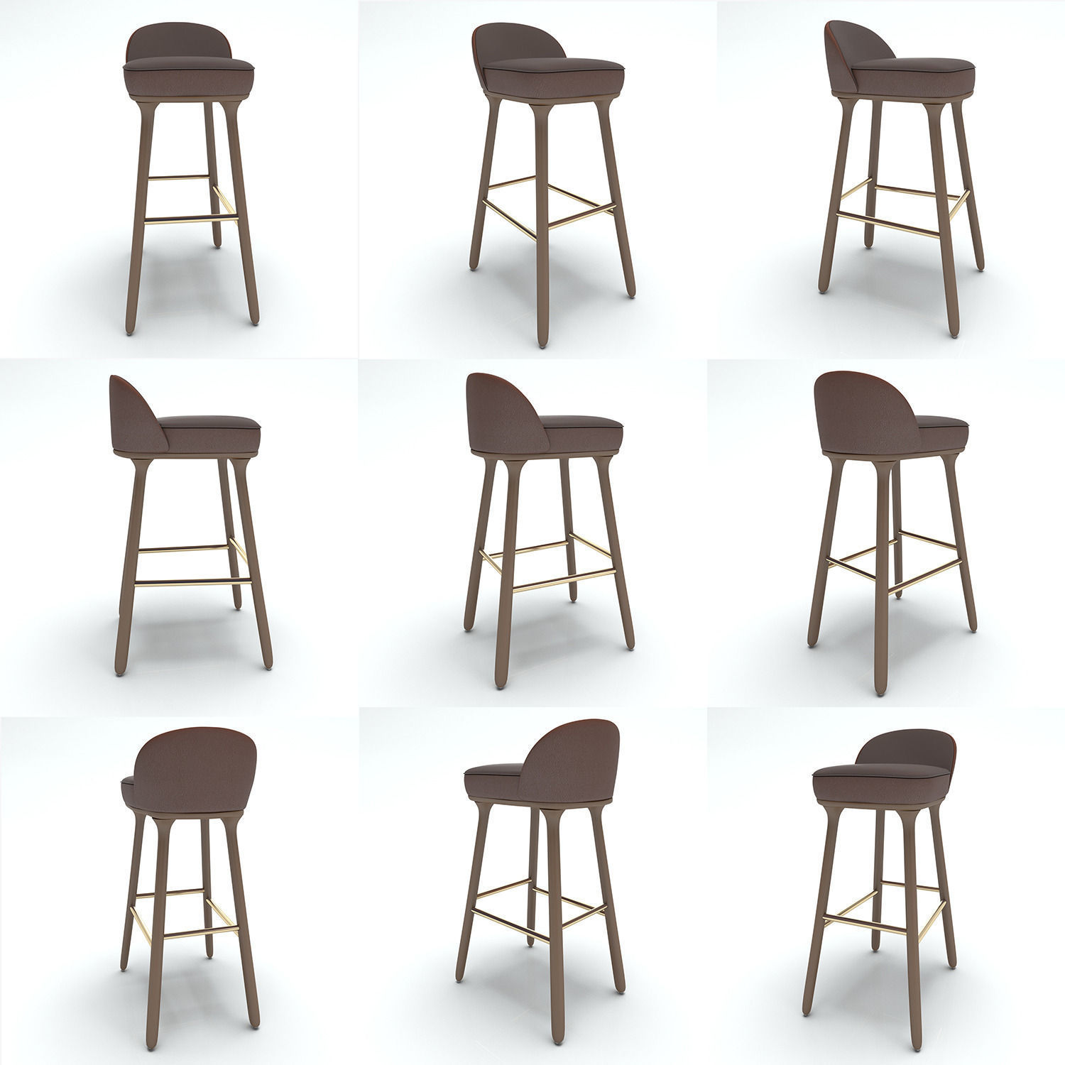 3D Se London Bar Chair