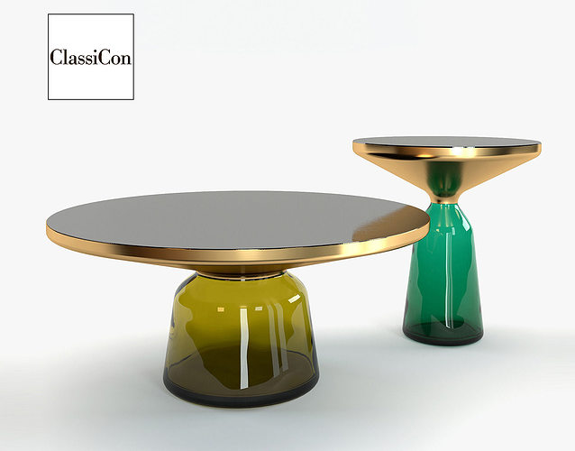 bell classicon coffee tables 3d model cgtrader. Black Bedroom Furniture Sets. Home Design Ideas