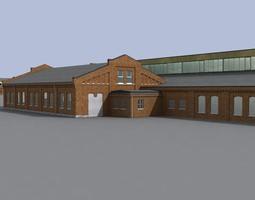Old european factory complex 3D