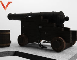 3d anciant cannon