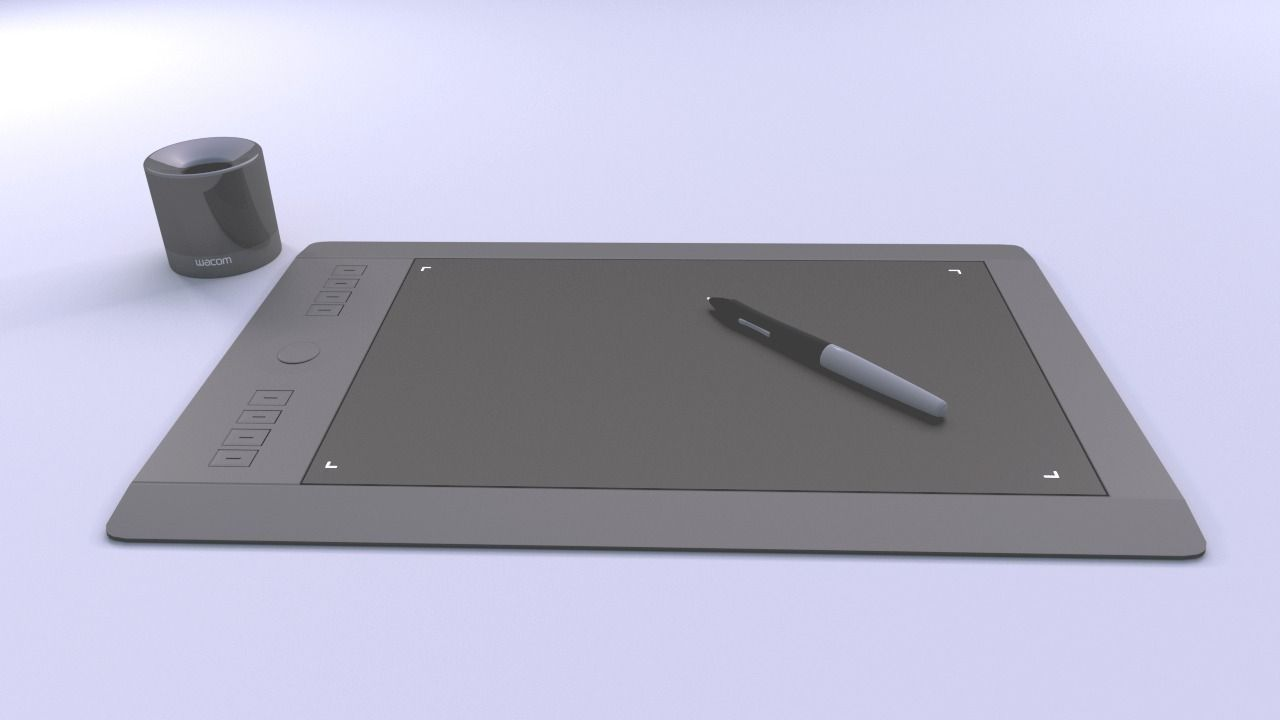 Wacom Intuos Pro Tablet 3D model | CGTrader