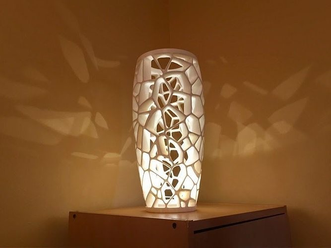 3d print model voronoi lamp 2 cgtrader - Where can i buy a 3d printed house ...