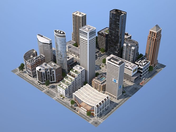 city kc6 3d model low-poly max obj mtl 3ds fbx c4d lwo lw lws 1
