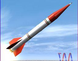 3d model shahin ii rocket low-poly