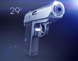3d model hand gun