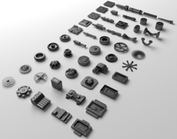 3d model technical parts collection 2
