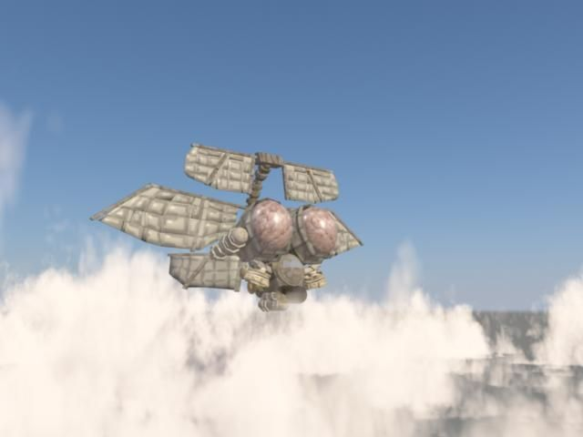 steampunk airship 3d model fbx c4d 6