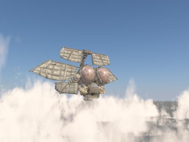 steampunk airship 3d model fbx c4d 6
