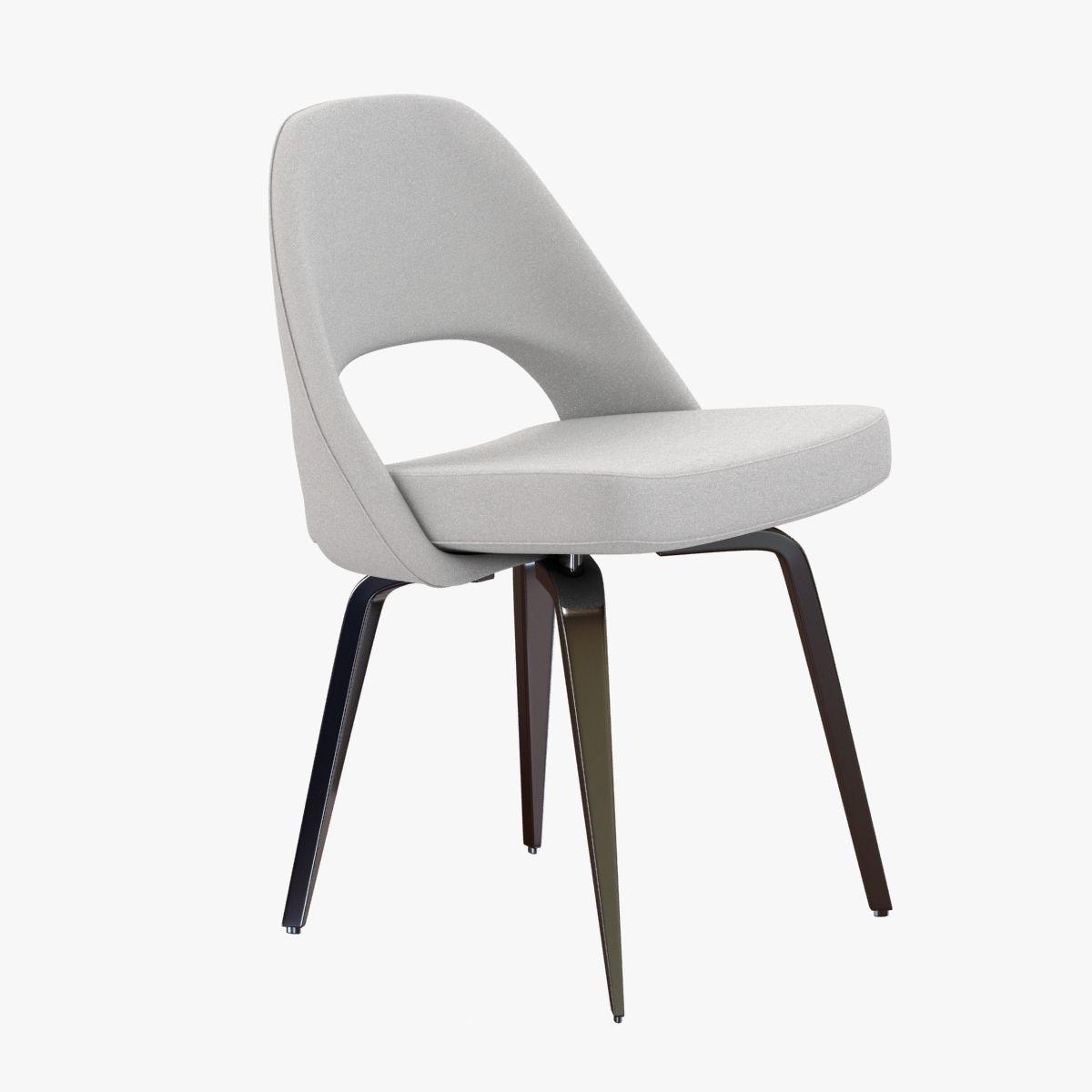 Chair saarinen executive chair - Saarinen Executive Side Chair 3d Model Max Obj 3ds Fbx Mtl 1