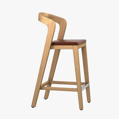 3d model modern wood barstool cgtrader. Black Bedroom Furniture Sets. Home Design Ideas