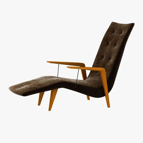 Chaise lounge by joaquin tenreiro 3d model max obj 3ds fbx mtl for Chaise modele