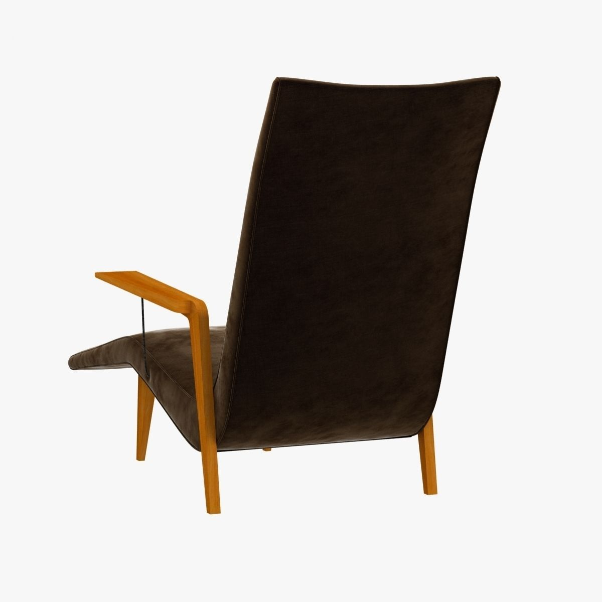 Chaise lounge by joaquin tenreiro 3d model max obj 3ds fbx for Chaise modele
