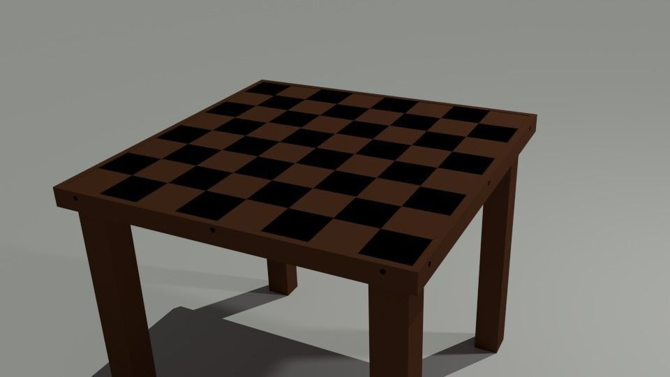 3d model chess table vr ar low poly blend for Ar 11 6 table 6 2