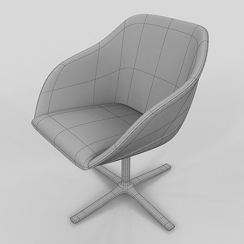 armchair walter knoll turtle 3d model max. Black Bedroom Furniture Sets. Home Design Ideas
