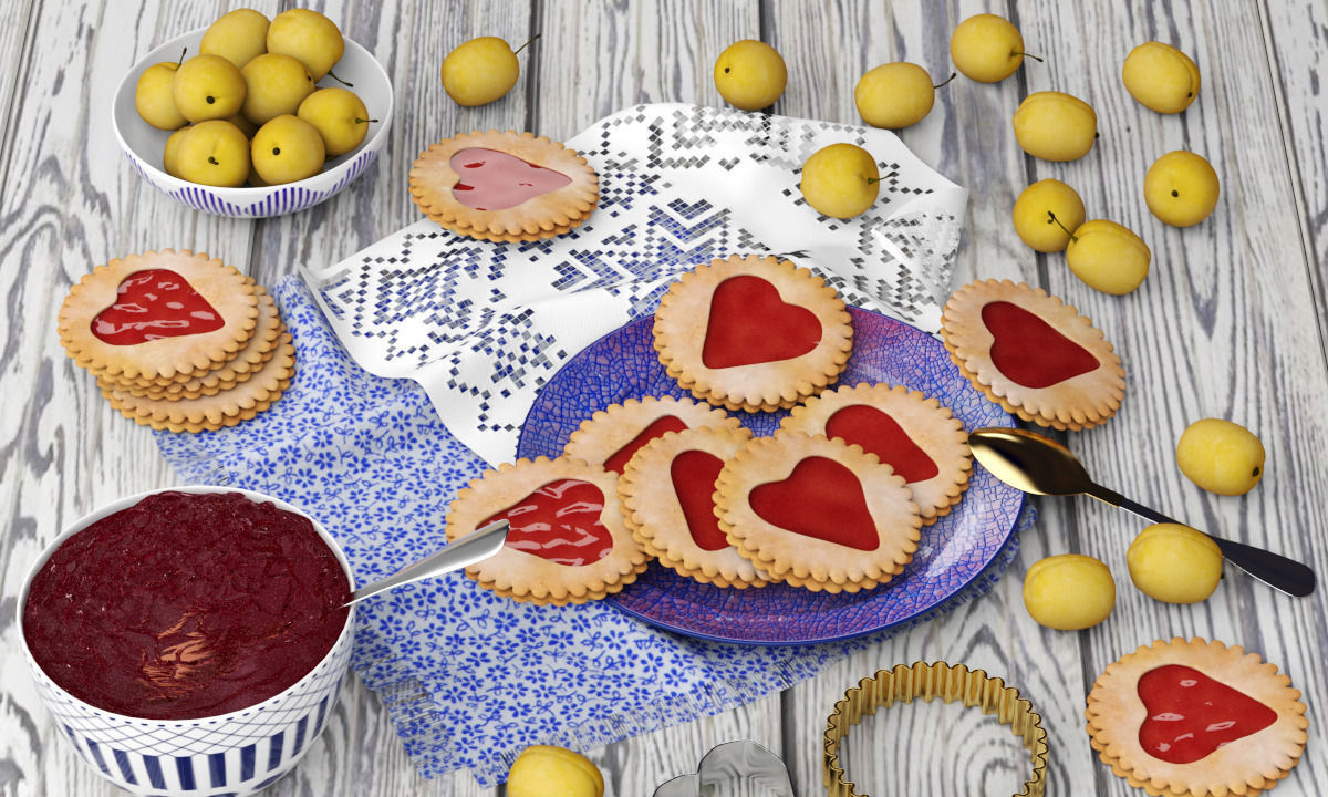 Cookies and Yellow Plums