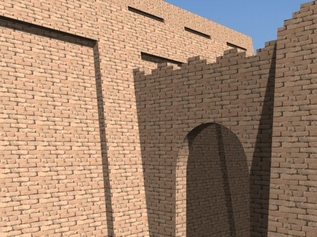 The Accurate Ziggurat of Ur - 3d model 3D Model MAX OBJ 3DS DXF DWG ... Ziggurat Mesopotamia Model