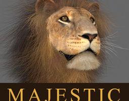 animated MAjestic Lion - 3d model