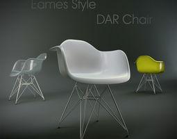 3D model Eames Style DAR Chair
