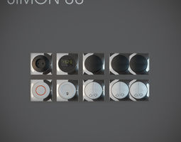 light switch simon 88  vol2 3d model