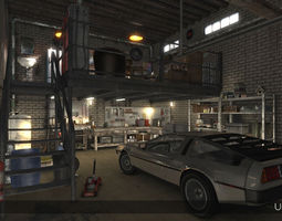 3D asset Auto Repair Shop - High Detail Garage