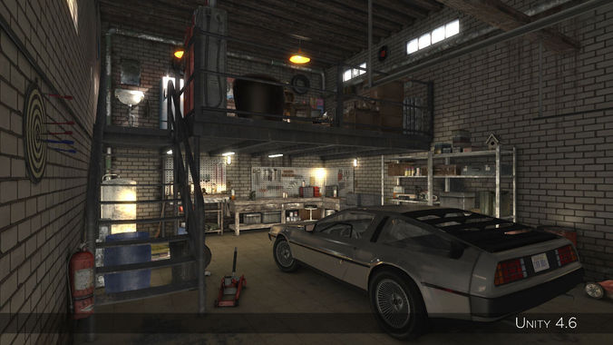 High Detail Garage 3D Model Game Ready