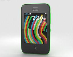 3D model Nokia Asha 230 Bright Green