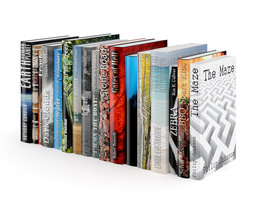 books set 04 3d model