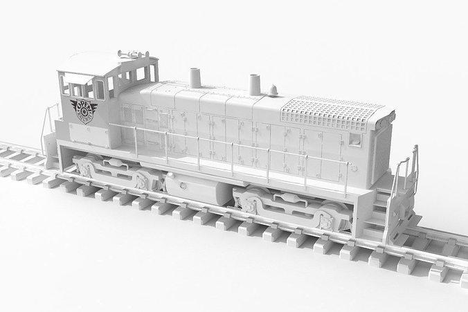 openrailway emd sw1500 locomotive  3d model stl 1