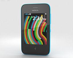 3D model Nokia Asha 230 Cyan