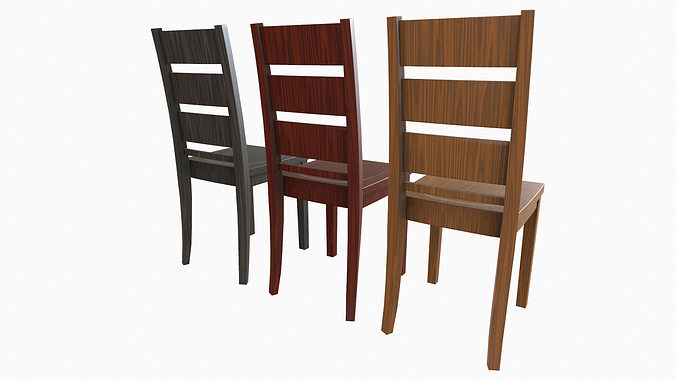 simple wooden dining chair. simple wooden dining chair 3d model low-poly obj fbx 3 w