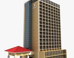 3D hotel Hotel Building