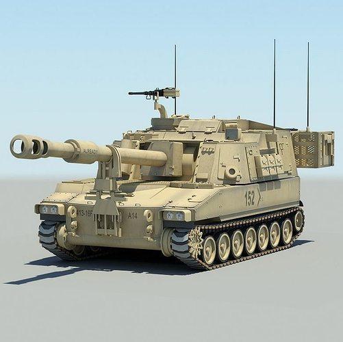 3d Model M109a6 Paladin