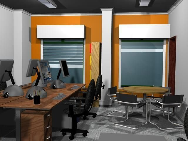 Web design office 3d model a 3d model animated max for Office design 3d max