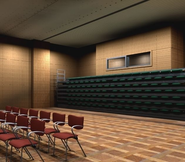 Theater retractable seats 3d model animated max for Theatre model