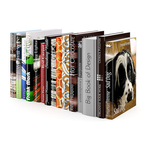 books set 06 3d model max obj fbx c4d 1