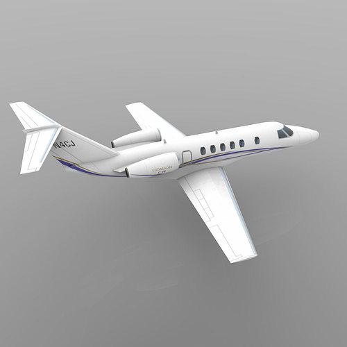 3d Model Cessna Citation Cj4 Vr Ar Low Poly Obj 3ds Lwo Lw Lws Mtl Pdf