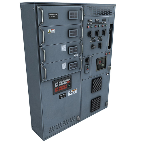 switchgear 3d model low-poly max obj mtl fbx tga 1