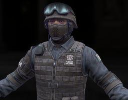 SWAT model 3D Model
