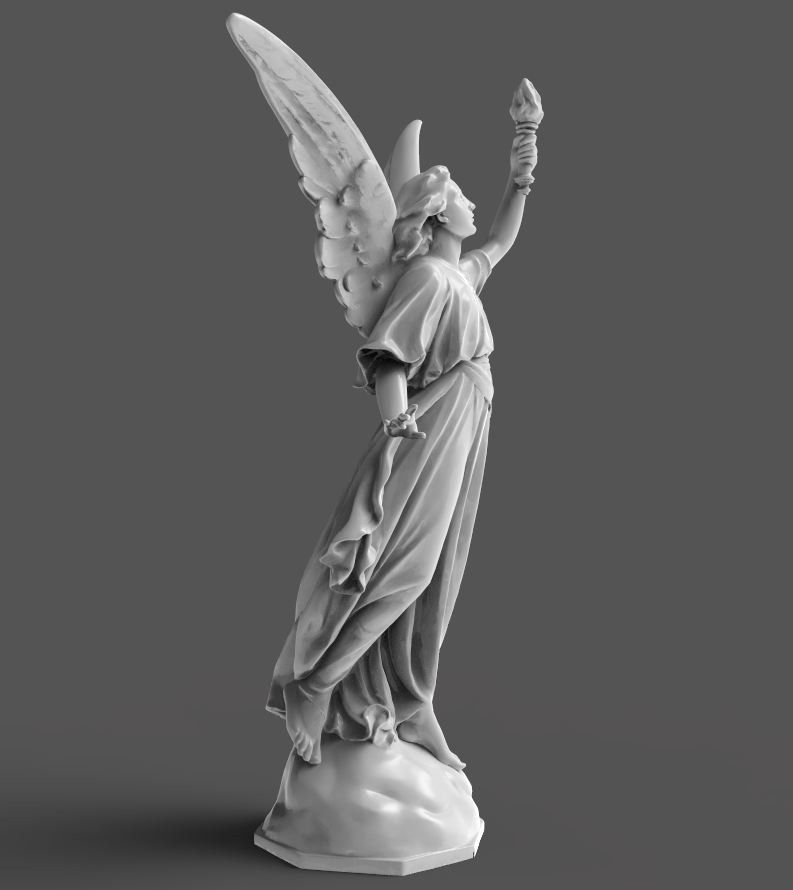 Goddess Statue 3D Model 3D Printable OBJ STL