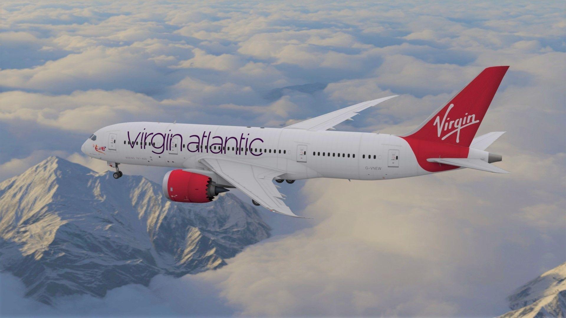 Boeing 787 Dreamliner Virgin Atlantic aircraft | 3D model
