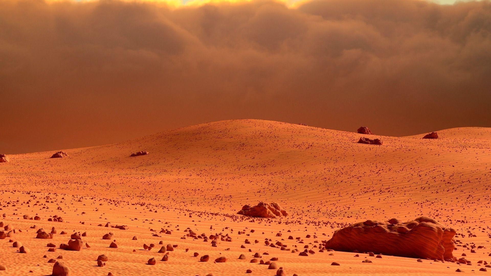 Mars Landscape 3d Model Obj Fbx Blend Mtl Cgtrader