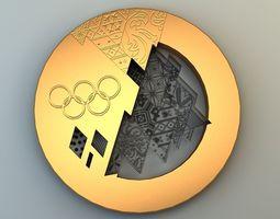 3D model Olympic medal