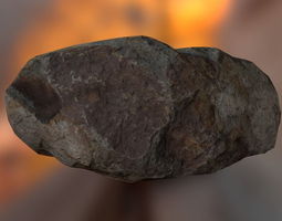 Rock 3D asset game-ready