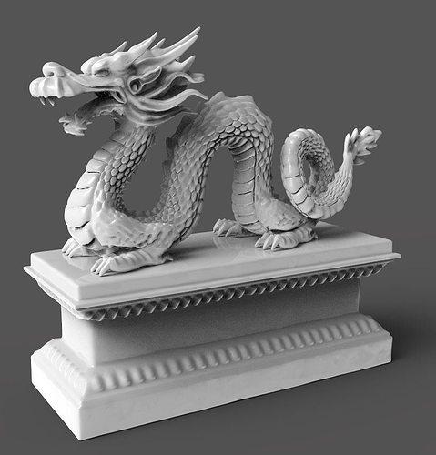 chinese dragon 3d model obj mtl stl ztl 1
