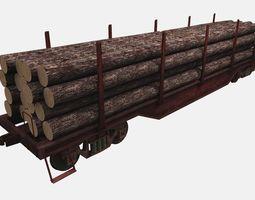 3d asset lumbar railcar game-ready